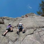 rockclimbing in Eskdale with West Lakes Adventures